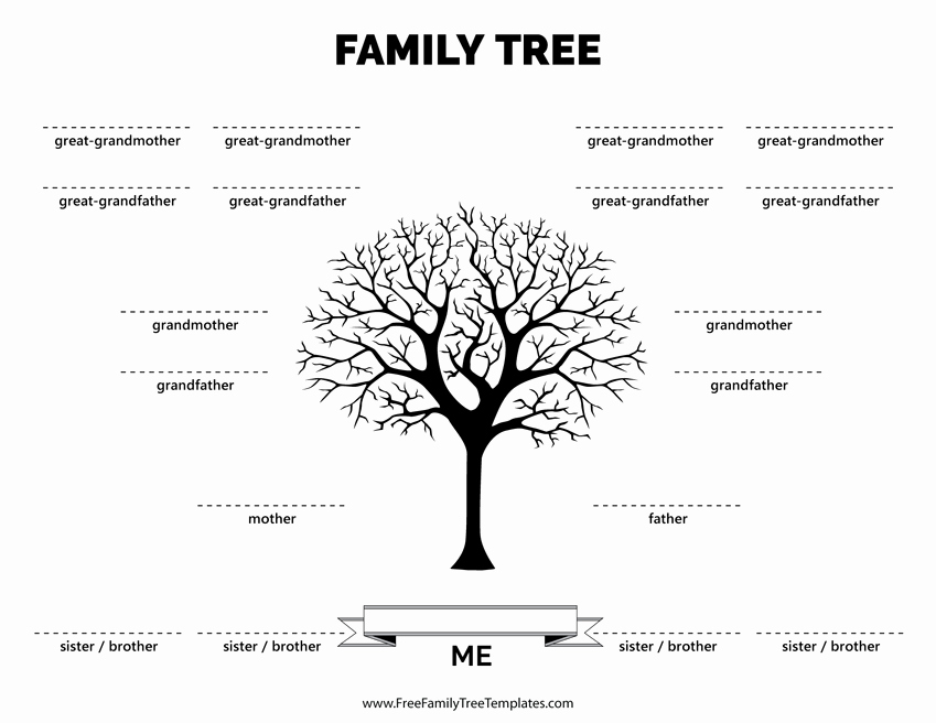 Family Tree Template with Siblings Best Of Family Tree with 4 Siblings Template – Free Family Tree