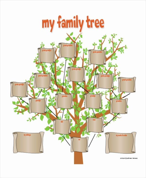 Family Tree Template with Siblings Fresh Family Tree Template 8 Free Word Pdf Document