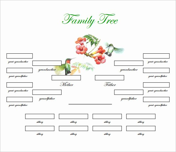 Family Tree Template with Siblings Unique Family Tree Template 31 Free Printable Word Excel Pdf