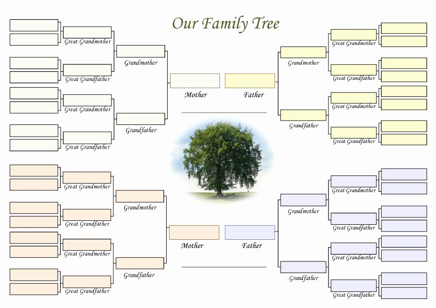 Family Tree Templates Excel Awesome 50 Free Family Tree Templates Word Excel Pdf
