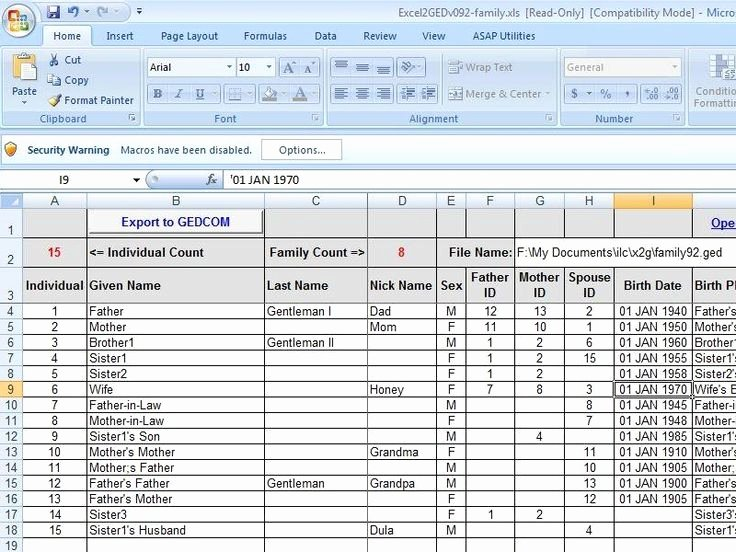 Family Tree Templates Excel Beautiful 40 Best Images About Genealogy Excel Spreadsheets On