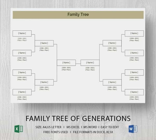 Family Tree Templates Excel Beautiful Simple Family Tree Template 25 Free Word Excel Pdf
