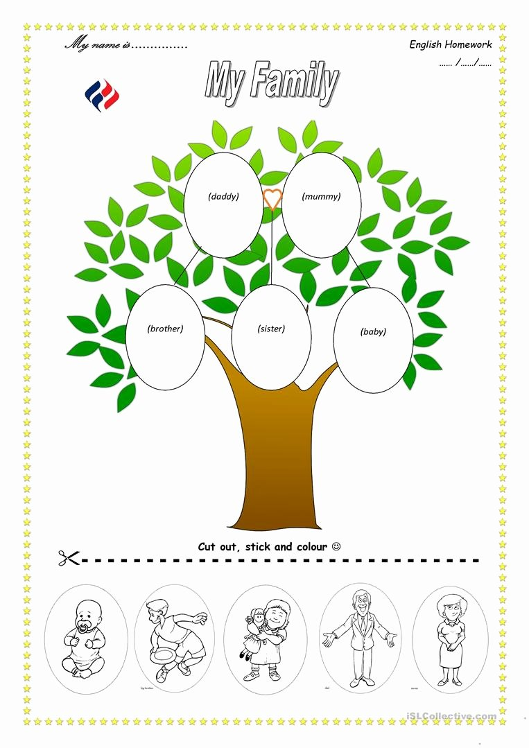 Family Tree Worksheet Printable Awesome Family Tree Worksheet Free Esl Printable Worksheets Made