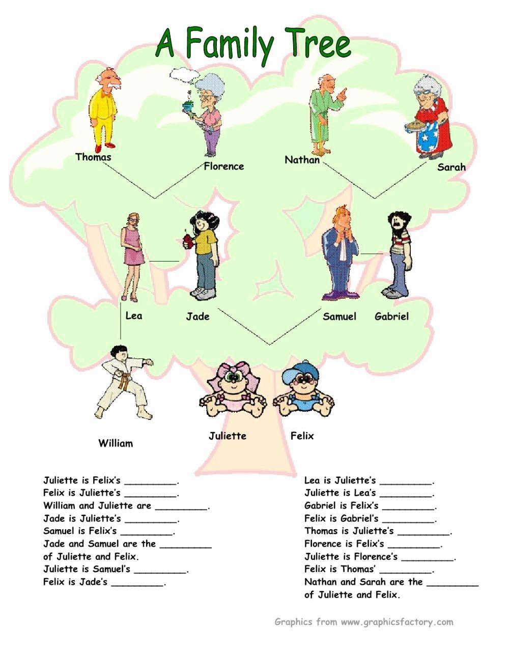 Family Tree Worksheet Printable Elegant Family Tree Interactive Worksheet