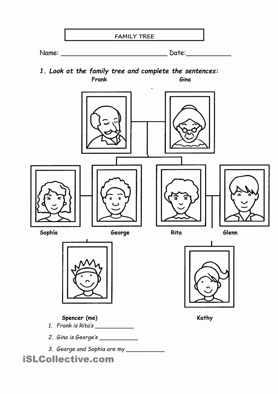 Family Tree Worksheet Printable Fresh 13 Best Of Spanish Family Tree Worksheet Family