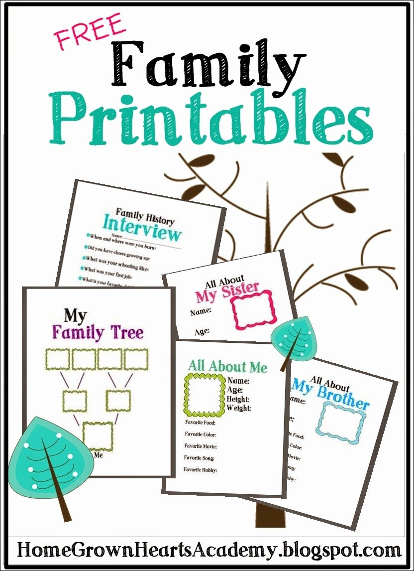 Family Tree Worksheet Printable Fresh Free Family Tree Printables and Ideas Homeschool Giveaways