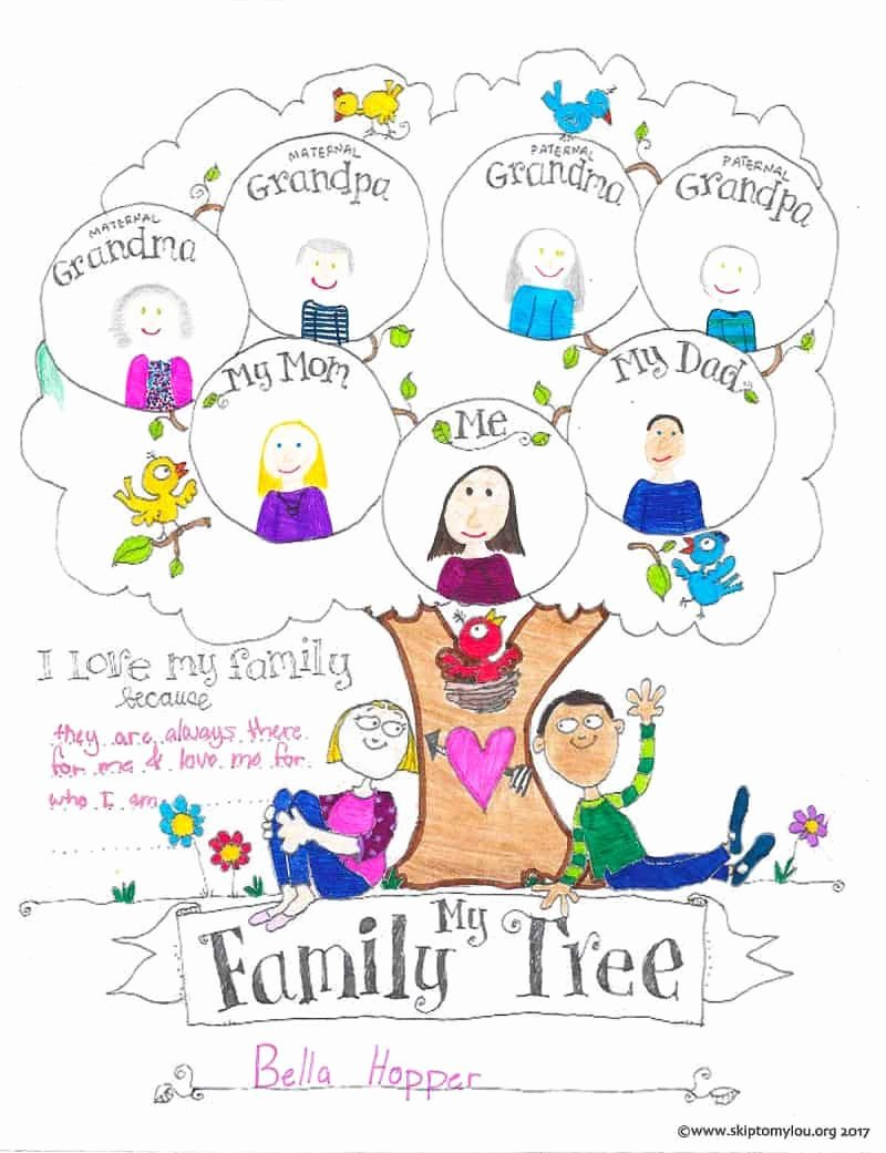 Family Tree Worksheet Printable Lovely Free Printable Family Tree Coloring Page