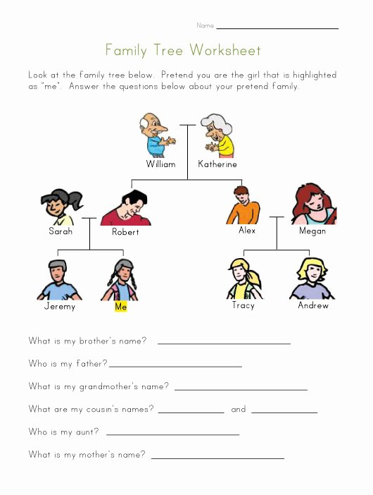 Family Tree Worksheet Printable Luxury English Power 2nd Grade Unit 3 Family