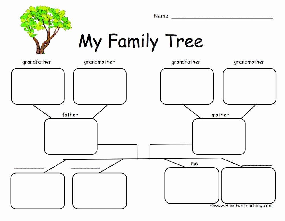 Family Tree Worksheet Printable Luxury Family Worksheets