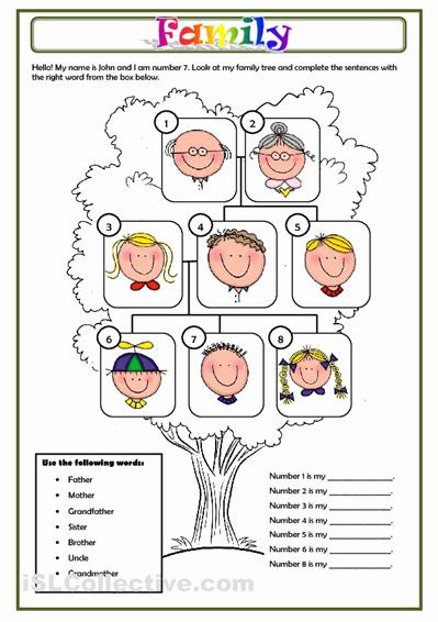 Family Tree Worksheet Printable New Family Worksheet Free Esl Printable Worksheets Made by
