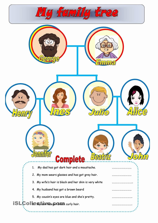 Family Tree Worksheet Printable Unique My Family Tree Teaching with Fun Pinterest