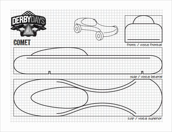 Fast Pinewood Derby Car Templates Elegant 27 Awesome Pinewood Derby Templates – Free Sample
