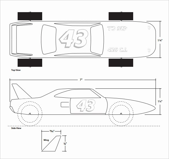Fast Pinewood Derby Car Templates Fresh 27 Awesome Pinewood Derby Templates – Free Sample