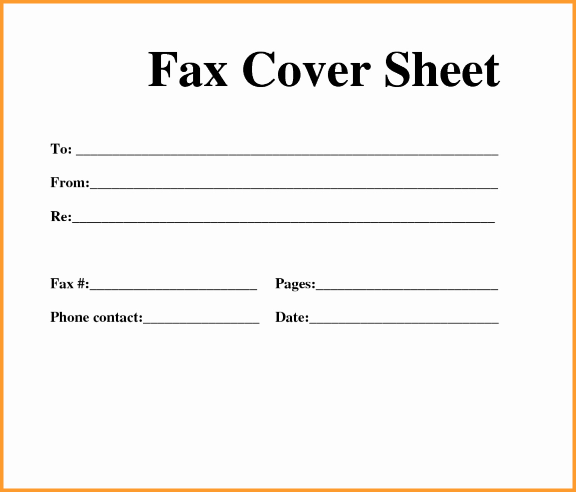 Fax Cover Sheet Template Free Best Of Free Fax Template