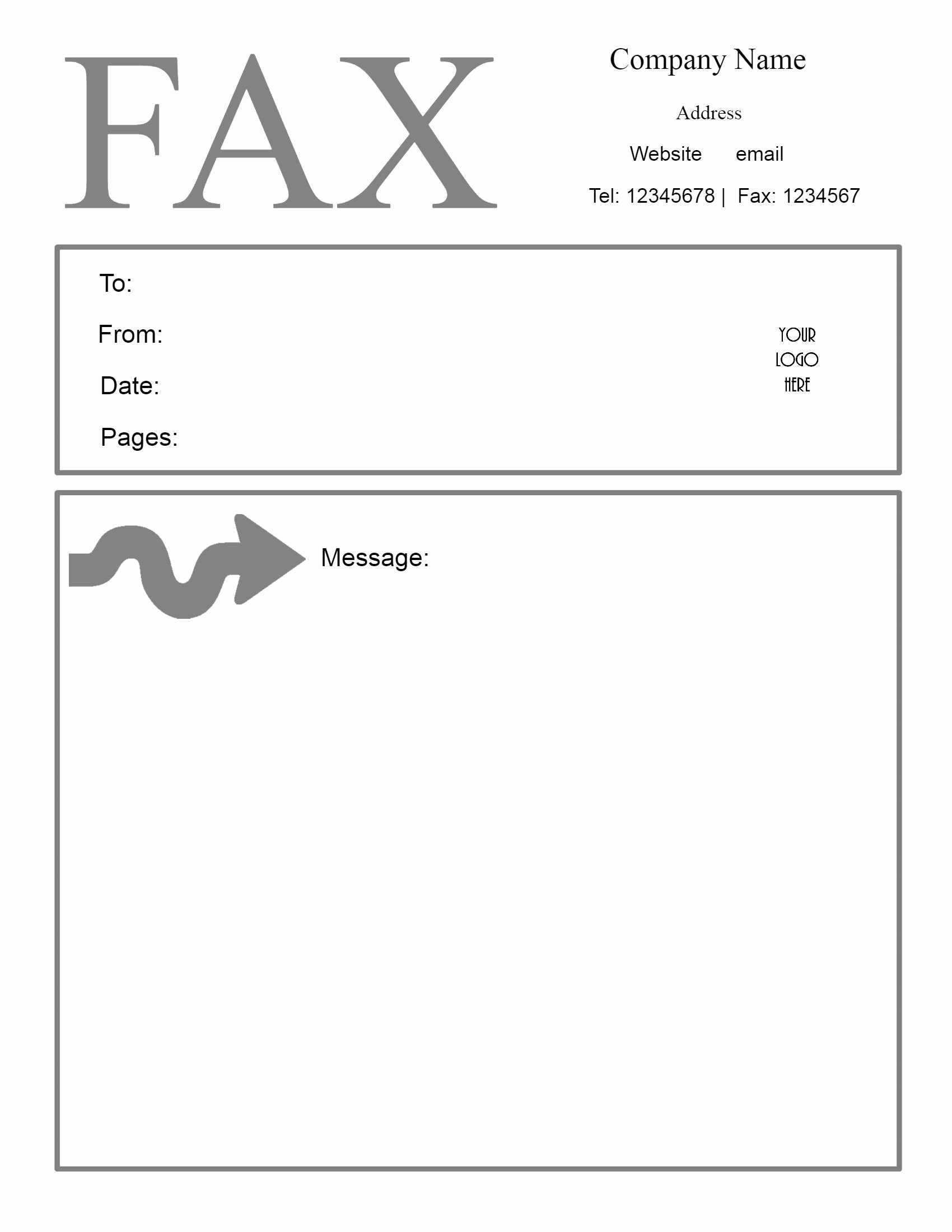 Fax Cover Sheet Template Free Lovely Free Fax Cover Sheet Template