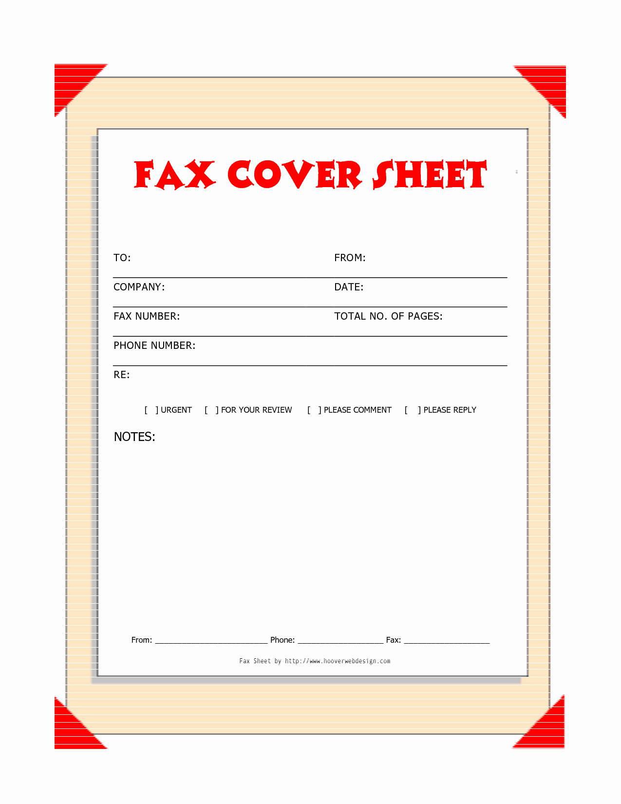 Fax Cover Sheet Template Free Luxury Free Downloads Fax Covers Sheets