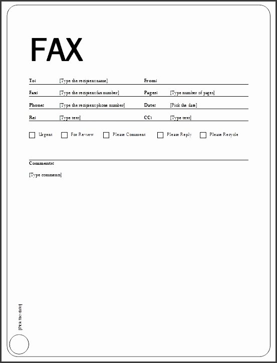 Fax Cover Sheet Template Free Unique 10 Fax Transmittal Template Sampletemplatess