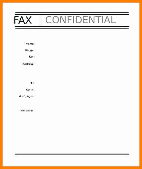 Fax Cover Sheet Template Free Unique 6 Fax Cover Sheet Template Fillable