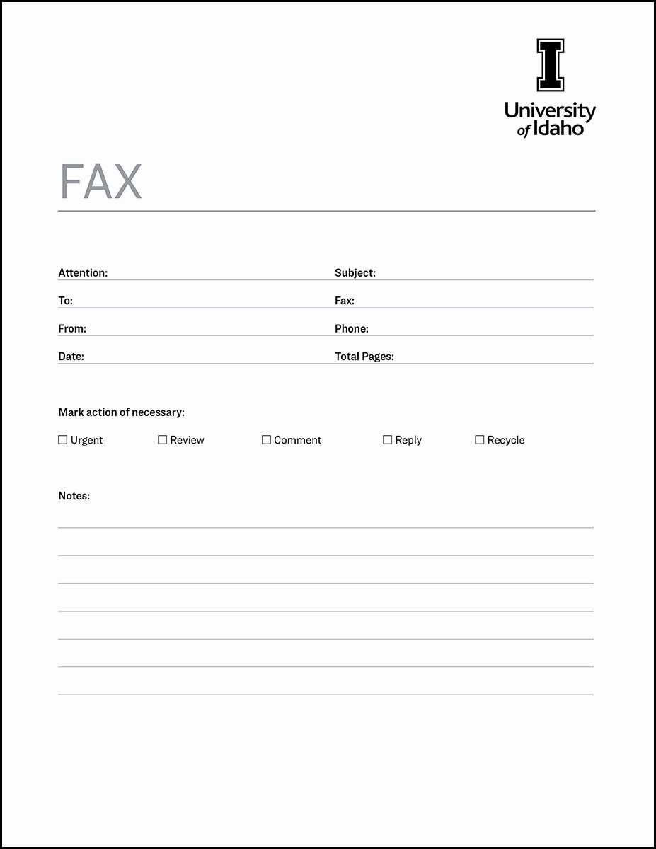 Fax Cover Sheet Template Free Unique Fax Cover Sheet Brand toolkit Brand Resource Center