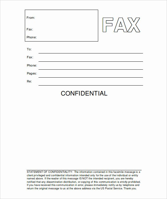 Fax Cover Sheet Template Word Elegant Fax Cover Sheet Confidential