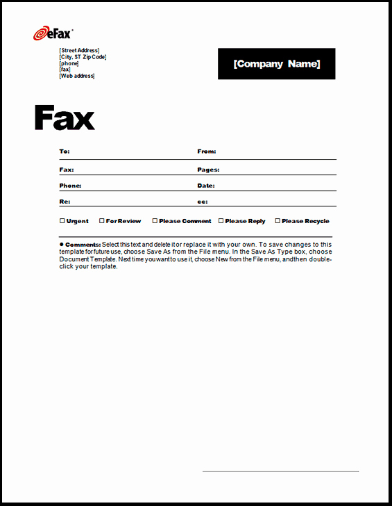 Fax Cover Sheet Template Word Inspirational 6 Fax Cover Sheet Templates Excel Pdf formats