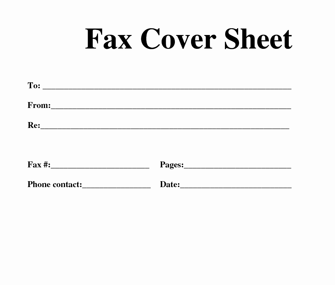 Fax Cover Sheet Template Word Inspirational Fax Cover Sheet Template Word
