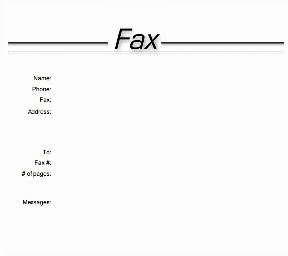 Fax Cover Sheet Template Word Inspirational Sample Fax Cover Sheet 10 Examples & format
