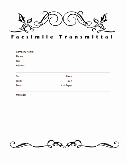 Fax Cover Sheet Template Word Lovely Fice Fax Cover Sheet Template