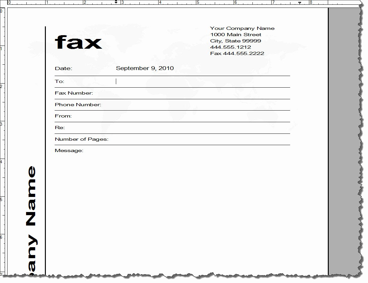 Fax Cover Sheet Template Word Unique Adobe Framemaker 9 Default Document Templates