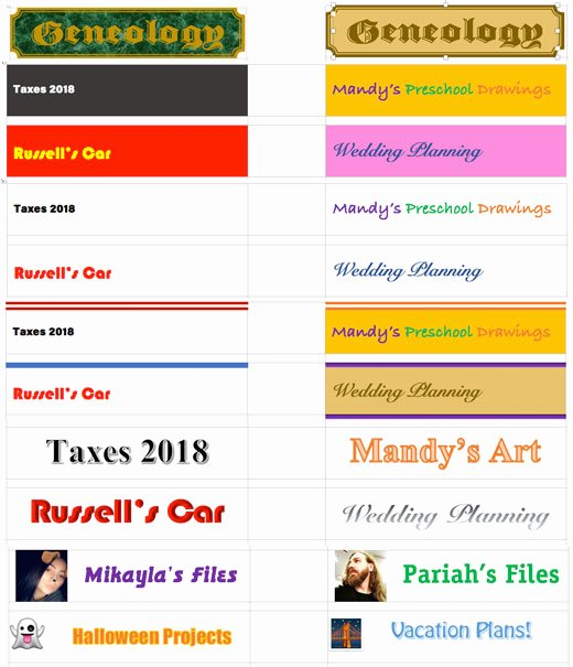 File Folder Label Template Awesome Creating File Folder Labels In Microsoft Word