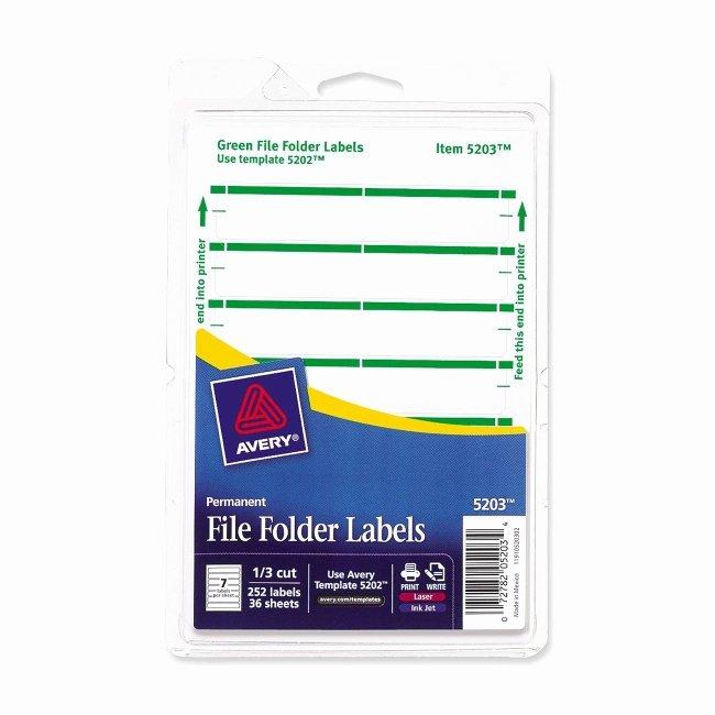 File Folder Label Template Awesome Print or Write File Folder Label Avery Dennison