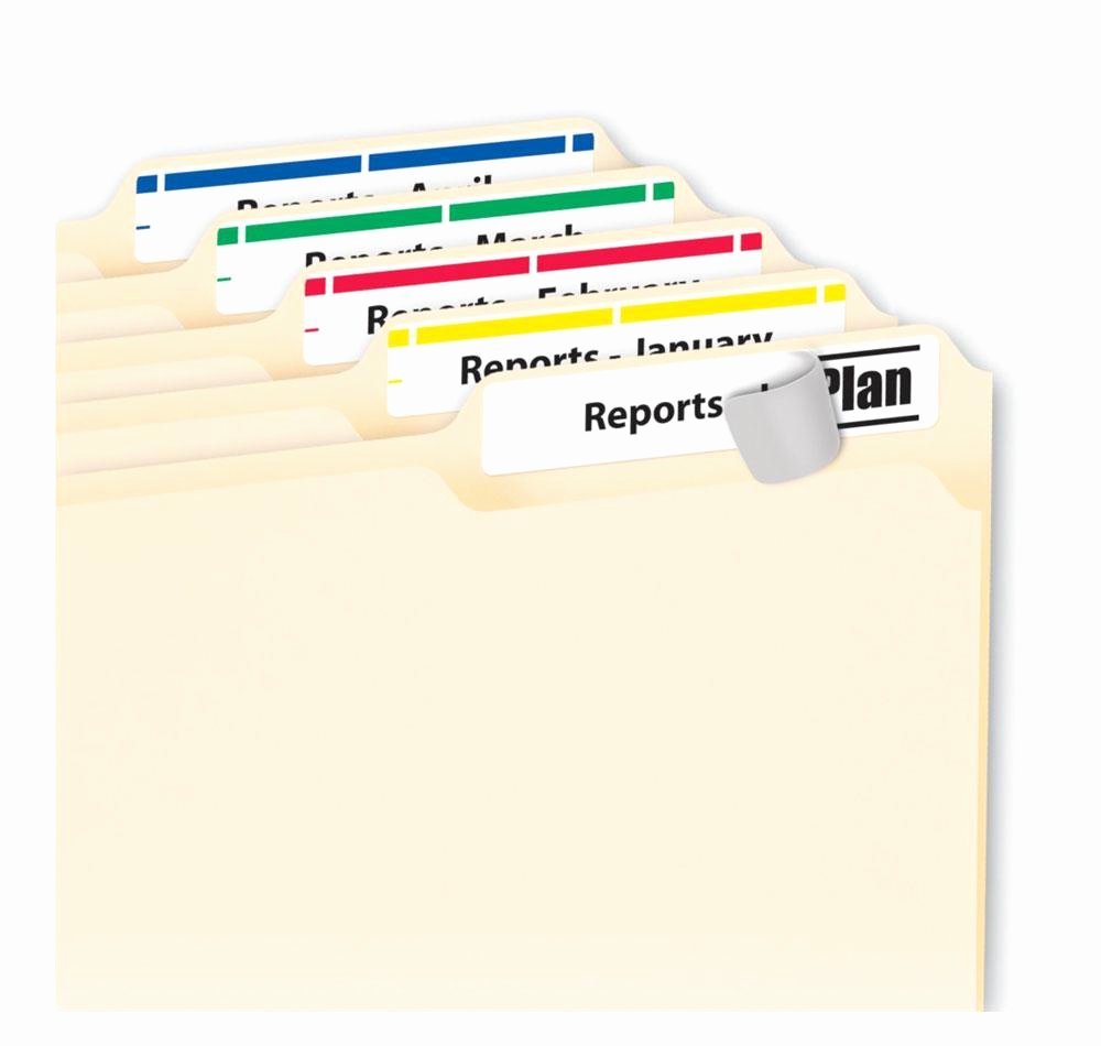 File Folder Label Template Beautiful Amazon Avery Print or Write File Folder Labels for