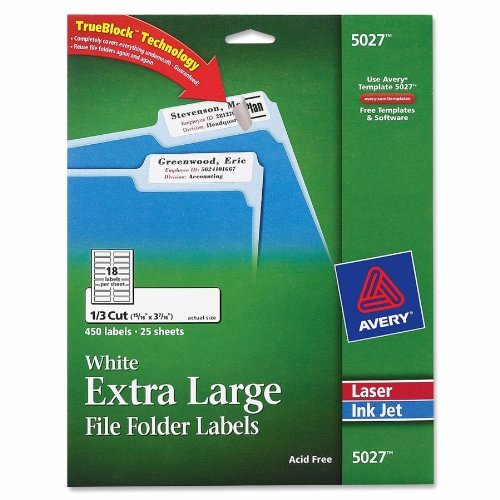 File Folder Label Template Beautiful Avery White Extra File Folder Labels for Laser and
