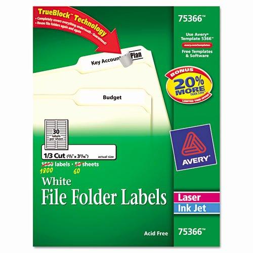 File Folder Label Template Inspirational Ave Avery Permanent File Folder Labels Zuma