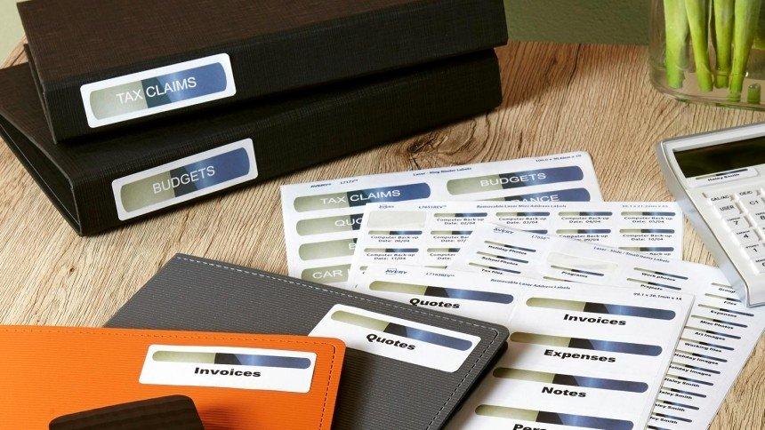 File Folder Label Template Inspirational File & Folder organisation Labels