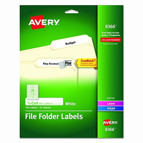 File Folder Label Template Lovely Avery File Folder Labels for Laser and Inkjet Printers 0