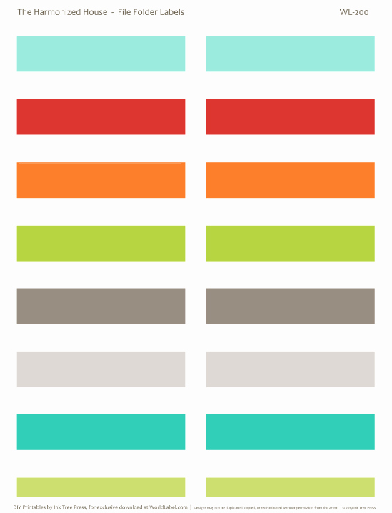 File Folder Label Template Lovely Inventory organizing Control the Harmonized House Project