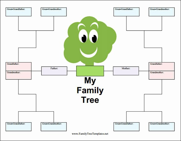 Fill In Family Tree Elegant Blank Family Tree Template