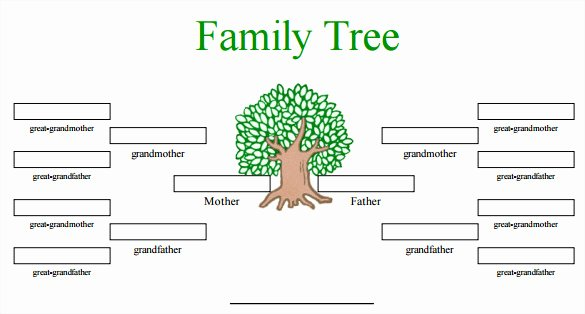 Fill In Family Tree Fresh Blank Family Tree Template 32 Free Word Pdf Documents