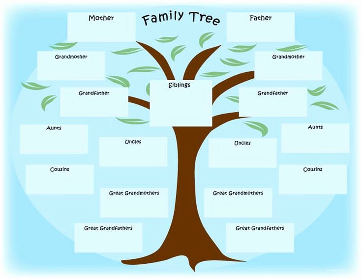 Fill In Family Tree Fresh Family Tree Baby Scrapbook Pinterest
