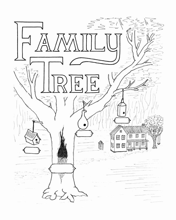 Fill In Family Tree Inspirational Family Tree Family Tree Print Fill In Family Tree by
