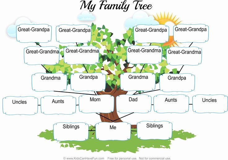Fill In Family Tree Lovely My Family Tree Worksheet1 Kids Fill Out their Family