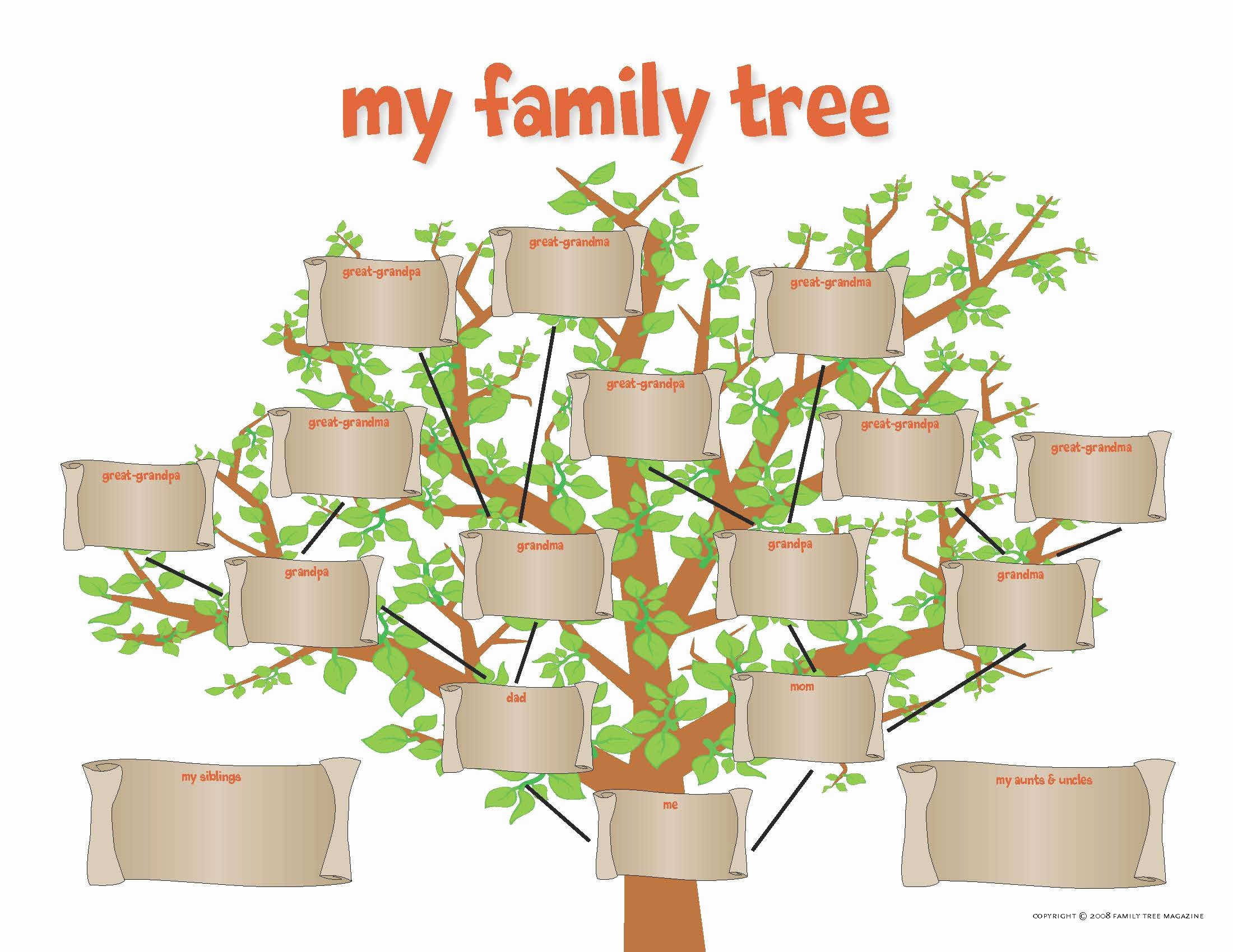 Fill In Family Tree New Activities
