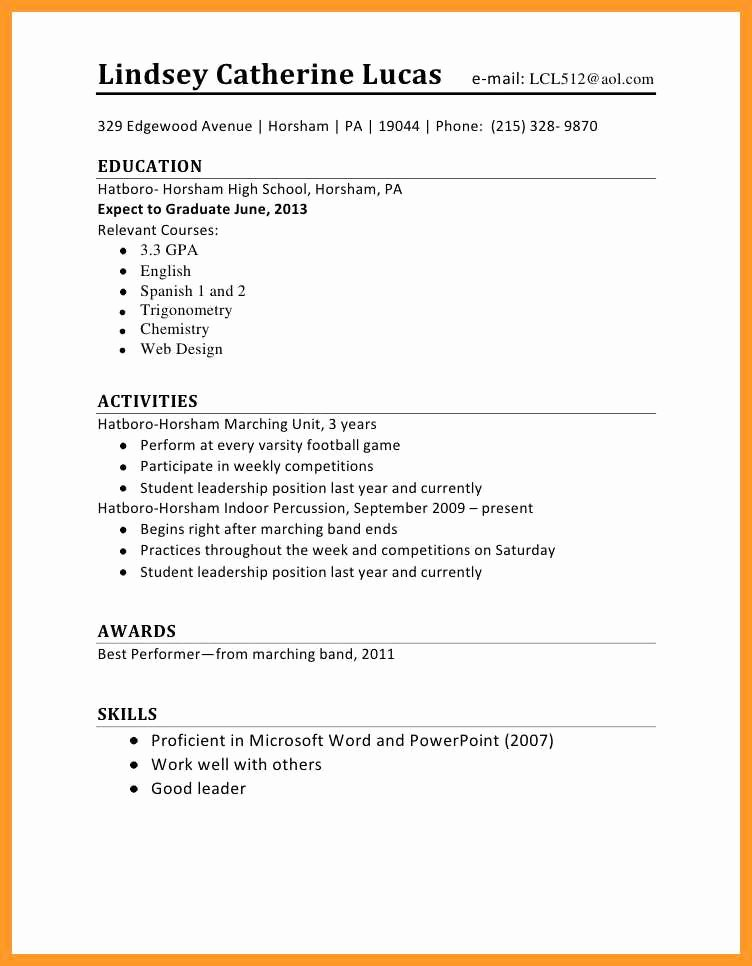 First Time Job Resume Elegant 12 13 Resume Sample for First Time Job Seeker