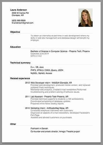 First Time Job Resume Fresh Sample Resume for Beginners and Entry Level Job Seekers