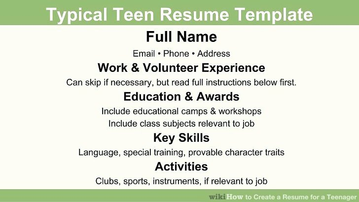 First Time Job Resume New How to Create A Resume for A Teenager 13 Steps with