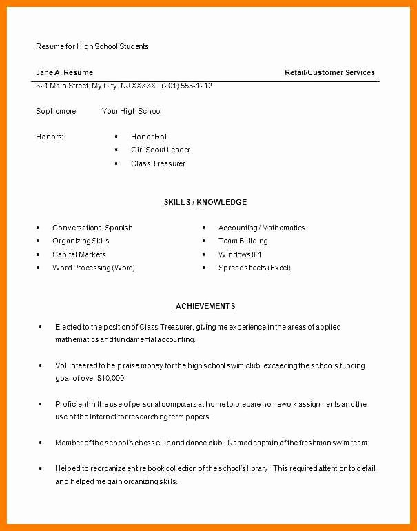 First Time Job Resume Unique 9 10 First Job Resume with No Experience Examples