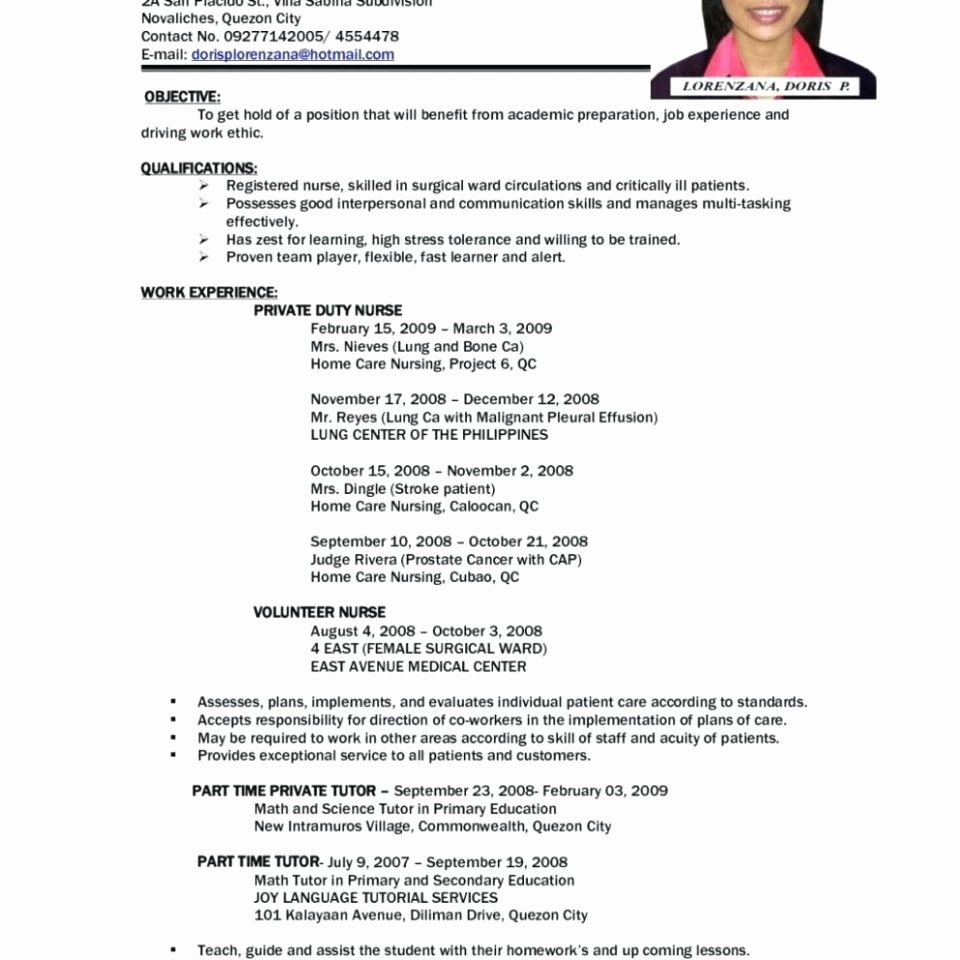 First Time Job Resume Unique Examples for Job 3 Resume format Objective First Out