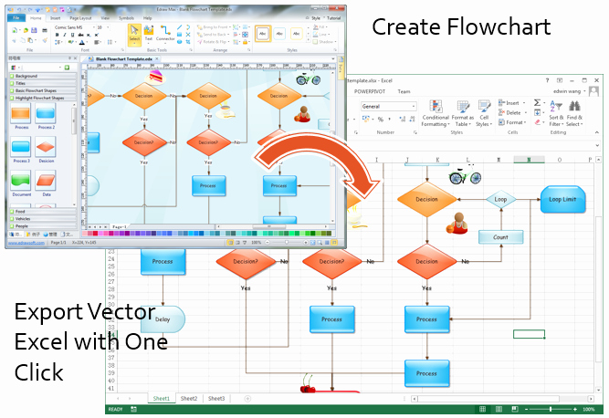 Flow Chart Template Excel Best Of Make Great Looking Flowcharts In Excel