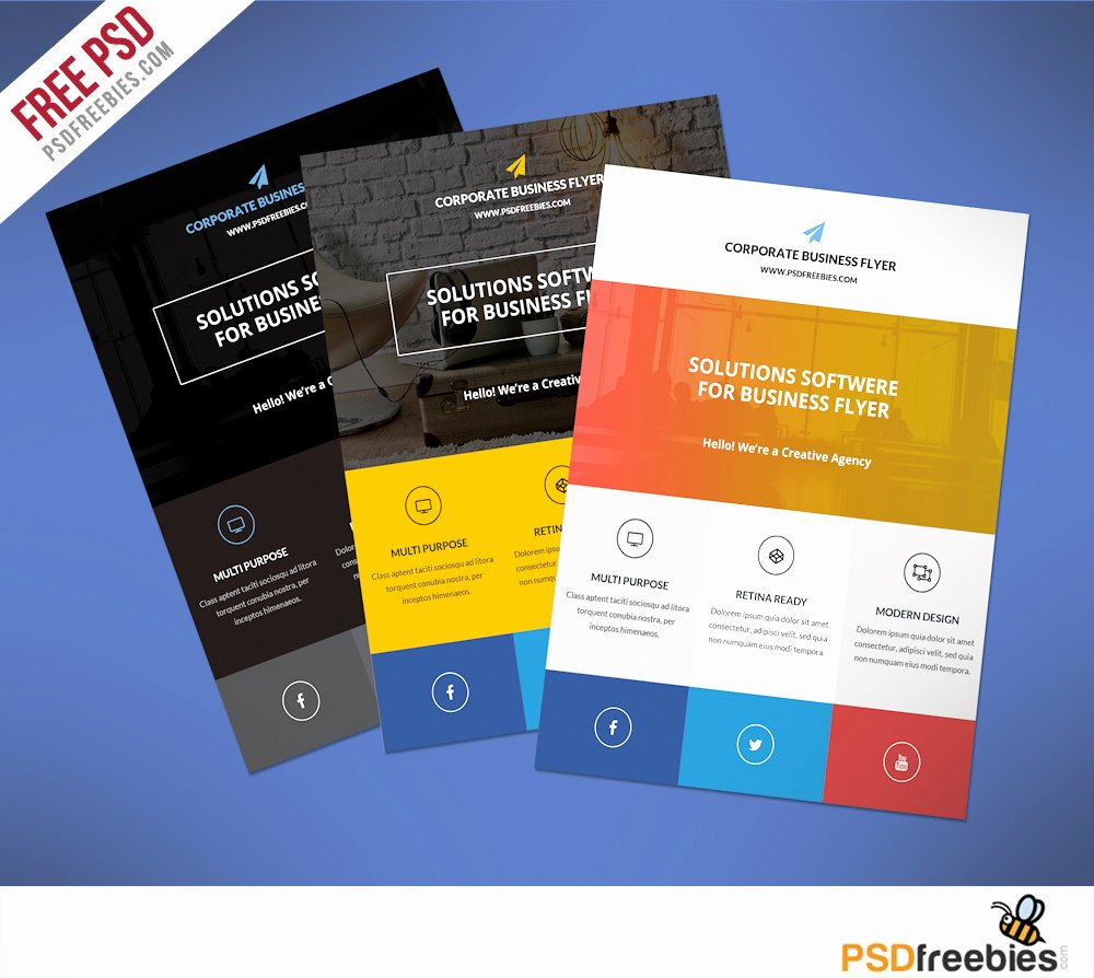 Flyer Templates Free Downloads Awesome Flat Clean Corporate Business Flyer Template Free Psd